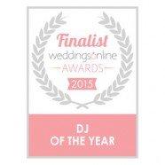 Dj Tommy Elliott finalist in the Weddings Online Awards 2015