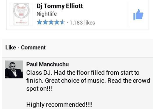 Dj Tommy Elliott Wedding Dj