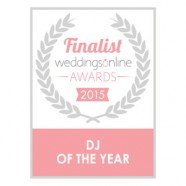 Dj Tommy Elliott finalist in the Weddings Online Awards 2015